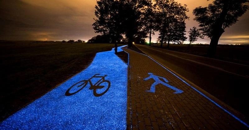 """""""Glow-In-The-Dark"""" Untuk Jalur Sepeda di Polandia"""